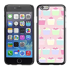 Planetar® ( Cupcake Muffin Pastel Paining Colorful ) Apple iPhone 6 Plus(5.5 inches)Fundas Cover Cubre Hard Case Cover