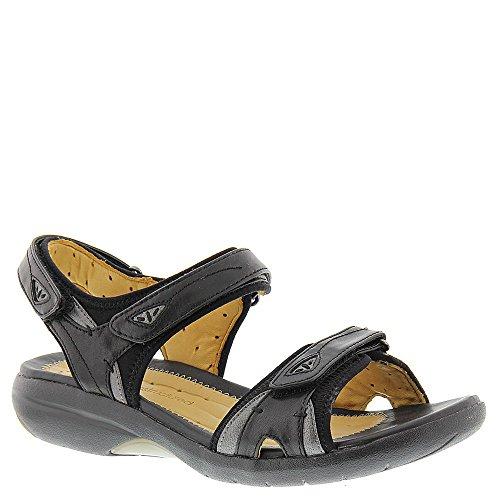 Clarks Womens Un.Harbour Black Leather Sandal - 7 M