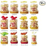 Kim's Magic Pop Combo Pack B 12-Pack: Freshly Popped Rice Cakes, Healthy Grain Snack, 0 Weight Watchers Point