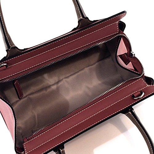 6Glam borsa a mano in pelle saffiano, multicolor, tracolla staccabile, made in Italy