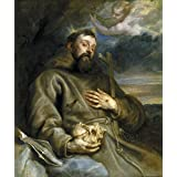 high quality polyster Canvas ,the Amazing Art Decorative Canvas Prints of oil painting 'Dyck Anton van San Francisco de Asis en extasis 1627 32 ', 8 x 10 inch / 20 x 24 cm is best for Bedroom gallery art and Home gallery art and Gifts