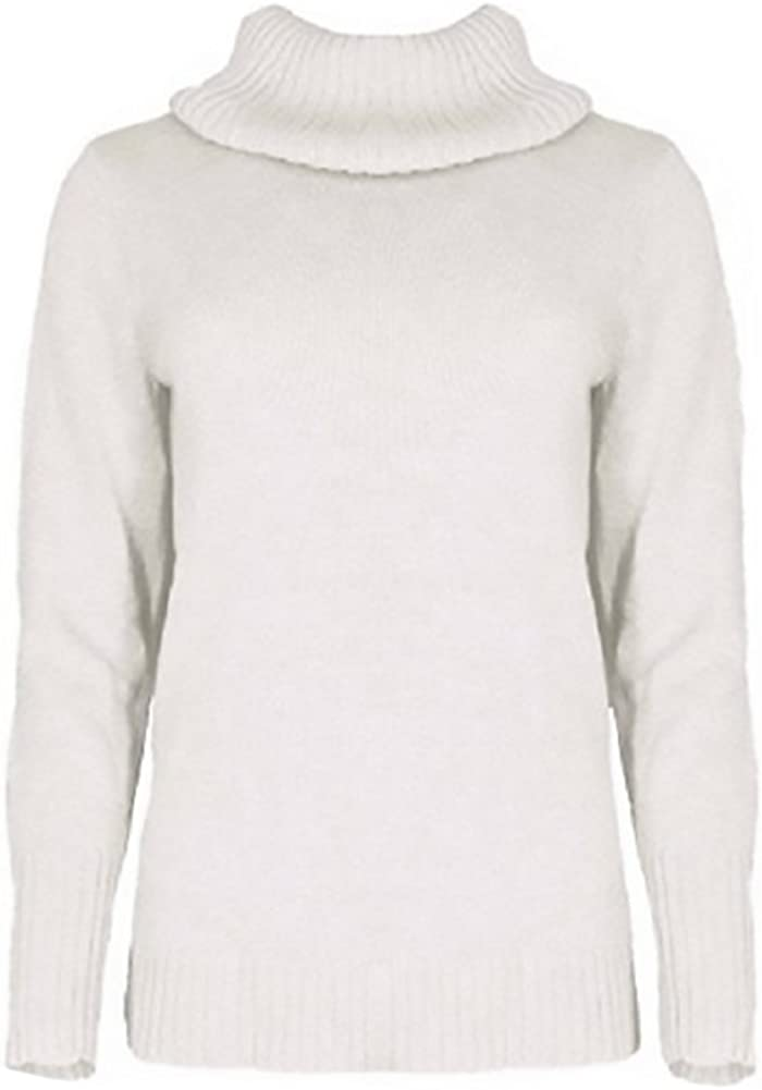 Nautica Women's Soft Knitted Turtle Neck Long Sleeve Semi Fitted Sweater (X-Large, Sail White)
