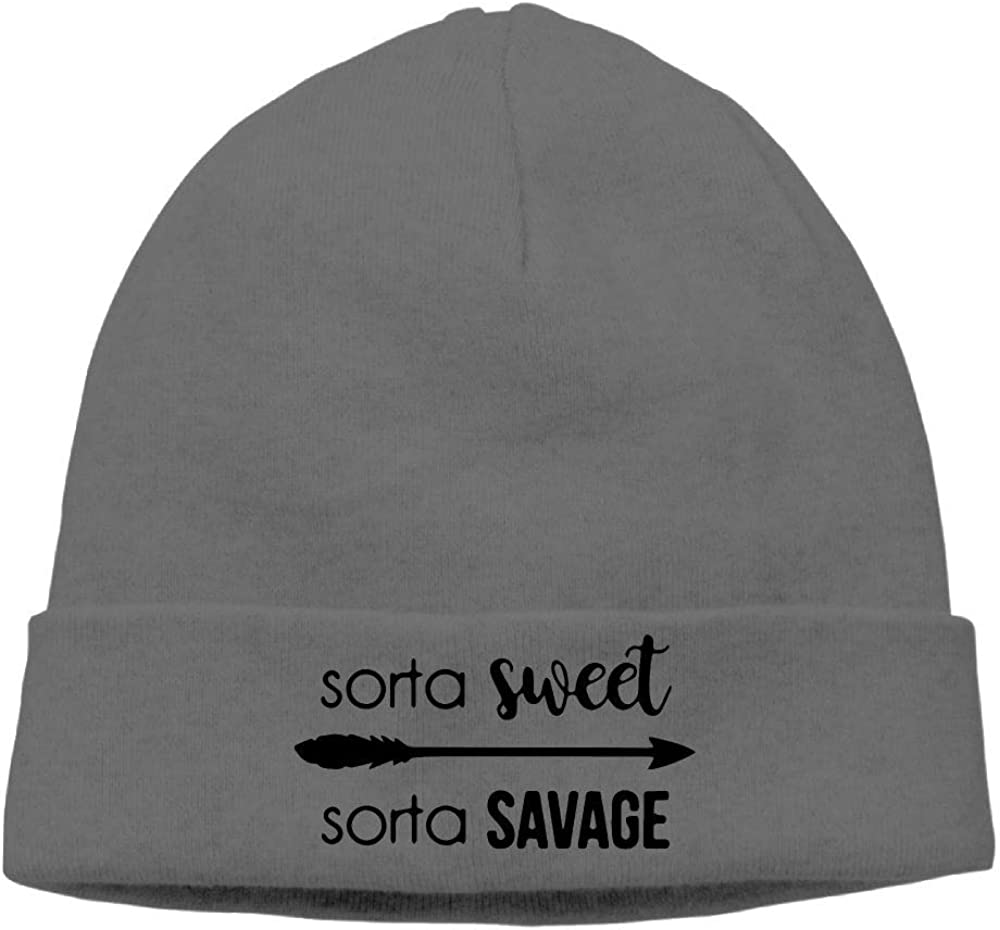 Sorta Sweet Sorta Savage-1 Skull Cap Cgi03T-2 Soft Woolen Cap for Mens and Womens