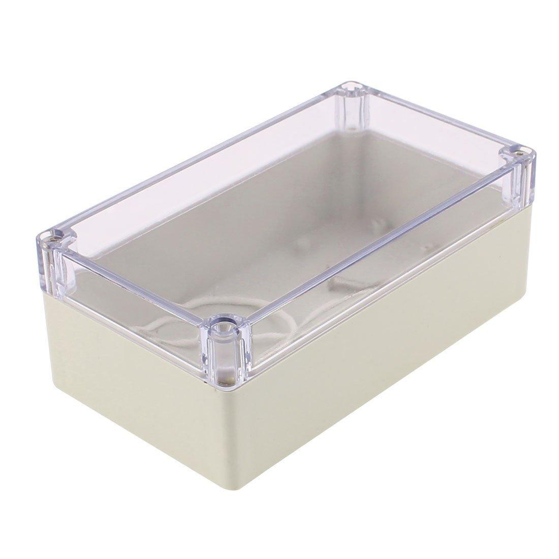 sourcingmap® 158 x 90 x 60mm Transparent Cover Dustproof IP65 Junction Box Terminal Box Enclosure a16081200ux0666