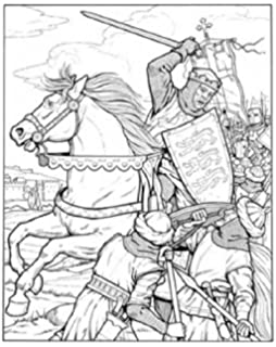 The Medieval Castle (Dover History Coloring Book): Amazon.co.uk ...