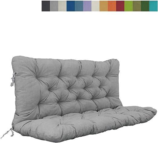 Akadas - Cojín para Muebles de jardín, Color Gris: Amazon.es: Jardín