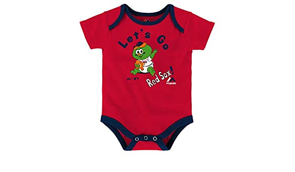 Outerstuff Boston Red Sox Infants Fantastic 3 Piece Bodysuit Creeper Set