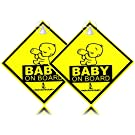 """Inspiration """"Baby On Board"""" with Suction Disks Sign, 2-Pack (5x5) (2pcs)"""