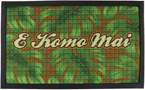 KC Hawaii E Komo Mai Tropical Door Mat 30 x 18 inch