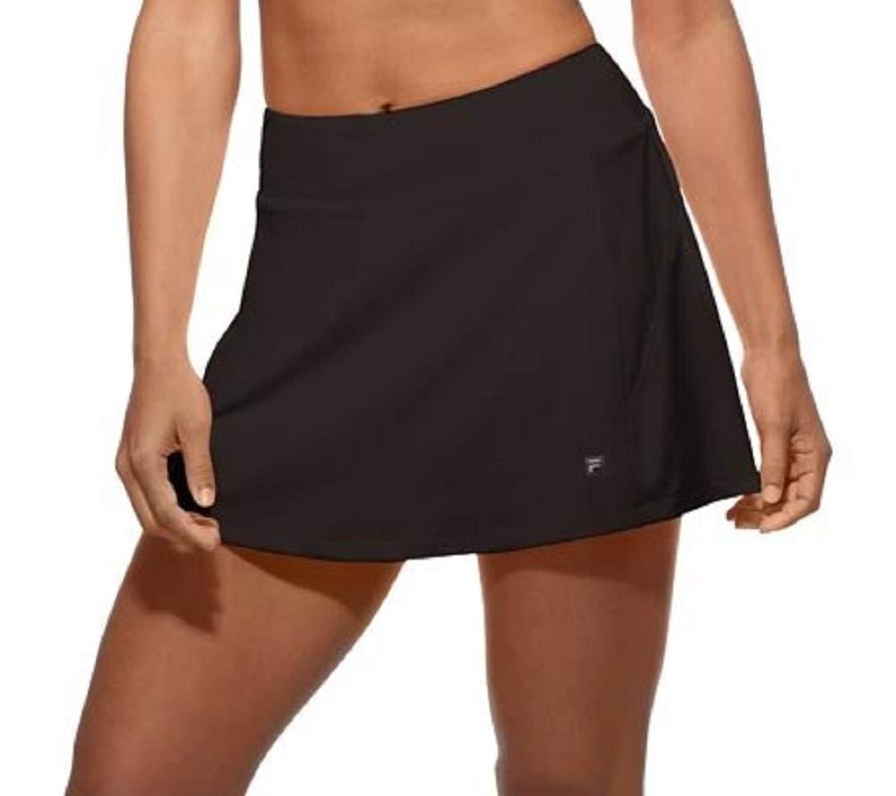 Fila Women's Core A-Line Tennis Skorts, Black, XS