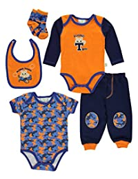 """Duck Duck Goose Baby Boys' """"Flying Tigers"""" 5-Piece Layette Set"""