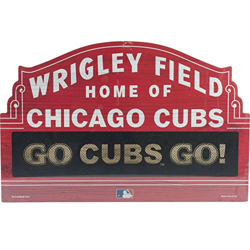 - Bek Chicago Cubs Wrigley Field Go Cubs Wood Sign 11x17 Plaque