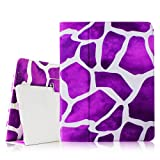 Fintie iPad 2/3/4 Case - Slim Fit Folio Case with Smart Cover Auto Sleep / Wake Feature for Apple iPad 2, iPad 3 & iPad 4th Generation with Retina Display - Giraffe Purple