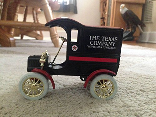 TEXACO 1905 FORD DELIVERY CAR LOCKING COIN BANK MINT