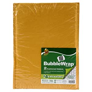 "DUCK CUSHIONED MAILING ENVELOPES BUBBLE WRAP INSIDES 9.5"" x 13.5"" 2 CT"