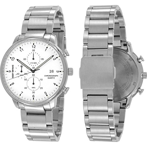 ISSEY MIYAKE Men's 'C' Quartz Stainless Steel Casual Watch, Color:Silver-Toned (Model: NYAD002Y)