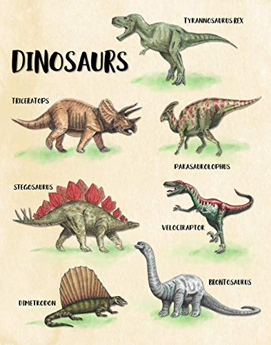 Dinosaur Wall Art Print - Bedroom Decor - 11x14 - Unframed ()