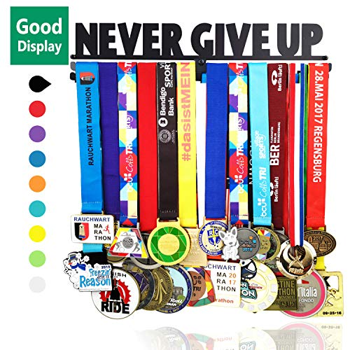 Medal Hanger Awards Holder Display Rack for 60 Medals Use for All Sports Black Steel Medal Hanger Holder,Race Medal Display Holder,Running medal hangers,medal holder for runner,GIFTS FOR ValentinesDAY