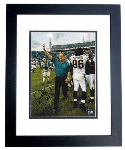 Jack Del Rio Signed - Jack Del Rio Signed - Autographed Jacksonville Jaguars 8x10 inch Photo BLACK CUSTOM FRAME - Guaranteed to pass PSA or JSA