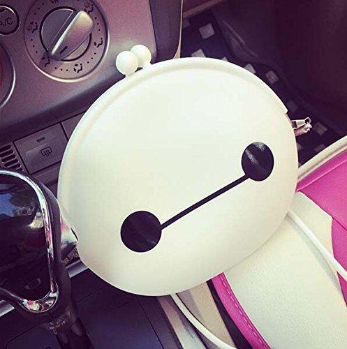 yaobai-cute weiß Silikon Weiß baymax Einkaufstasche Tasche, weiß baymax Silikon Handy Tasche Mädchen Cosplay Kostüm Tasche Zubehör, Kinder Rucksack