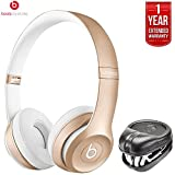 Beats By Dre Dr. Dre Solo2 Wireless On-Ear Headphones (Certified Refurbished) + HardBody PRO Full Sized Headphone Case With 1 Year Extended Warranty Pack (Gold)