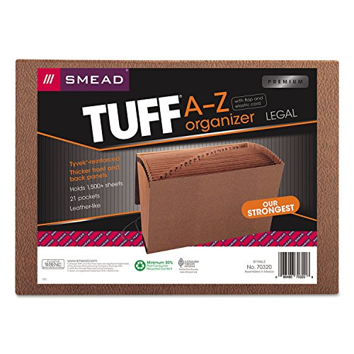 SMD70320 - Smead 70320 Leather-Like TUFF Expanding Files with Flap and Elastic -