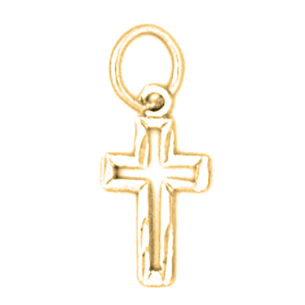 Jewels Obsession Cross Necklace Rhodium-plated 925 Silver Latin Cross Pendant with 24 Necklace