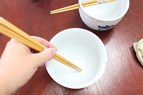 ラーメンボウル [Set of 2] Japanese Porcelain Ceramic Bowls w Chopsticks Ramen Soup Noodle Porridge Menudo Ramen Udon Pasta Cereal Ice cream Pho Rice Instant Noodle ~ We Pay Your Sales Tax (Puffer Fish) by We pay your sales tax (Image #3)