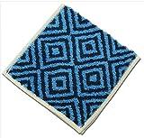 【今治タオル】 Otta ハーフタオルハンカチ 14-03 (縦25×横12.5cm) ブルー OT14-0060-0903