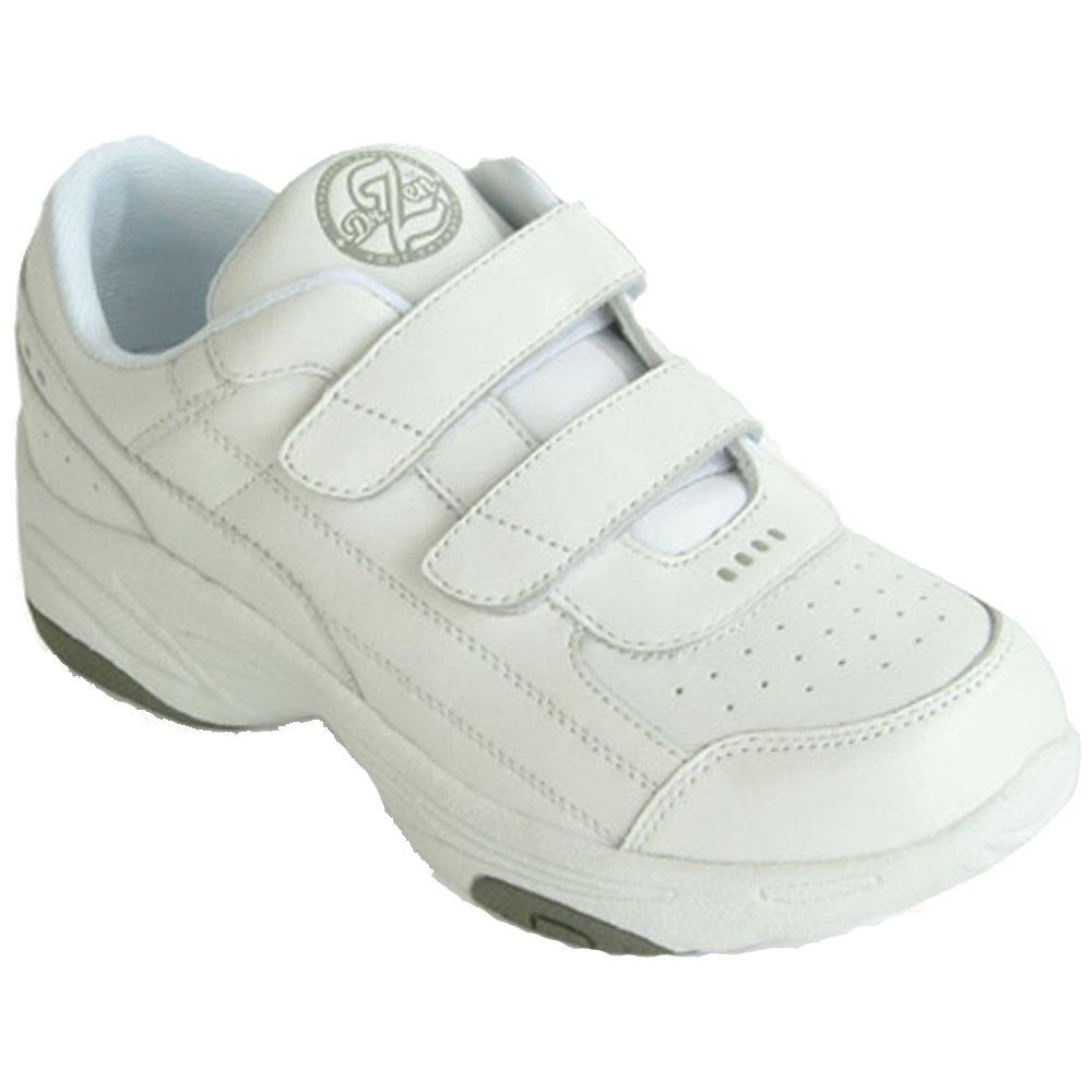 Dr Zen Sport 2 Women's Therapeutic Diabetic Extra Depth Shoe: White 8.5 X-Wide (2E) Velcro