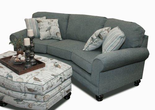 Chelsea Home Furniture Choctaw Sofa, Textura Aqua