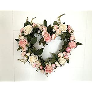 Inteeon Artificial Flowers Rose Simulation Flower Wreath Arrangement Lintel Celebration Headdress Porch 98
