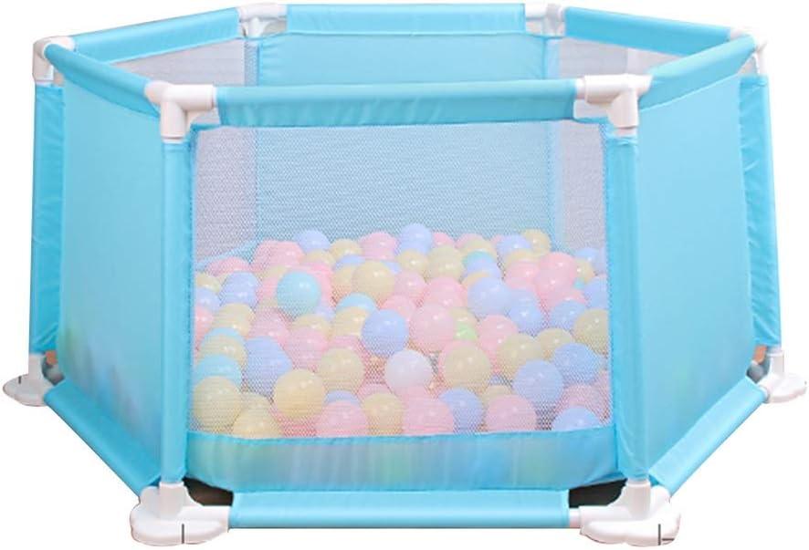 子供用フェンス六角形のフェンスゲームフェンスファミリー遊び場安全フェンス子供用保護レール子供用幼児用フェンス、アセンブリデザイン (Color : COLOR, Size : 116*116*61CM)