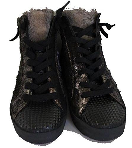 Donna Carolina Mix Steine Echt Leder Sneaker 32.402.052-004 Grösse 37