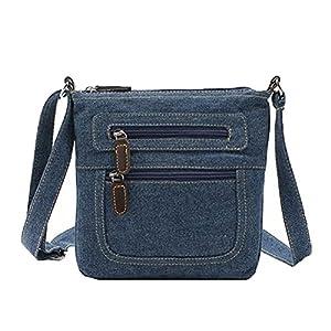 Donalworld Women's Short Style Denim Shoulder Purse Messenger Crossbody Handbag, Blue