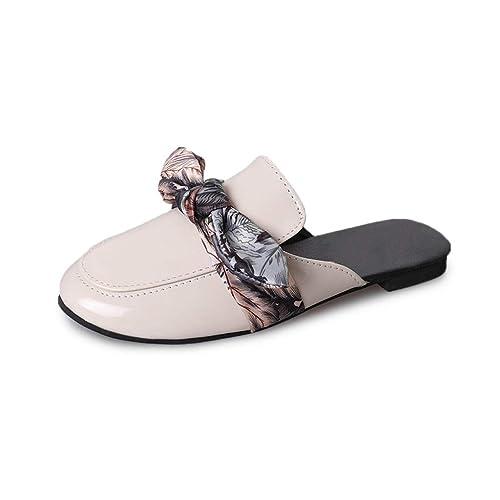 Ailj Sandalias De Verano De Las Mujeres, Sandalias Y Zapatillas De Lazo Planas Versión Coreana