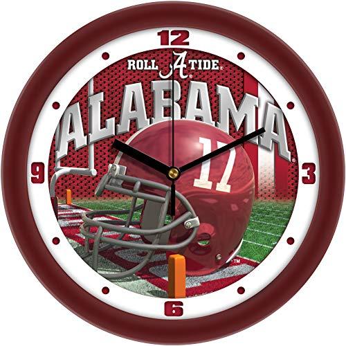 SunTime Alabama Crimson Tide - Football Helmet Wall Clock Alabama Crimson Tide Wall Clock