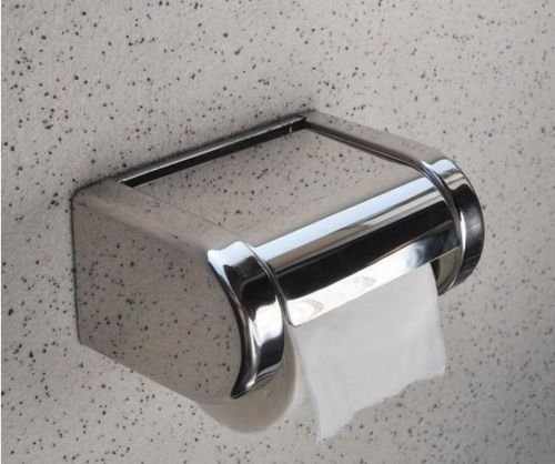 Toilet Paper Holders Toilet Paper Cover Wall Mounted Bathroom Stainless Steel Tissue Box Chrome Toilet Paper Rolls (Kirkland Department Store)