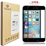 [2 Pack] iPhone 7 Plus Screen Protector, Ytaland Full Coverage Tempered Glass Screen Protector Film Edge to Edge Protection for Apple iPhone 7 Plus, 5.5 Inch (Black)