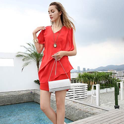 Evening Bags Shoulder Chain Elegant Women Purse Milisente Clutch Clutch Argent Bag Sequins xvXgHWwzq