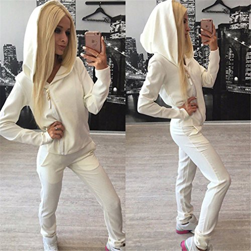 Meolin Women's Women's Long Sleeve Hoodie Pullover + Pants Outfits Set Sweatsuits Set Tracksuits -