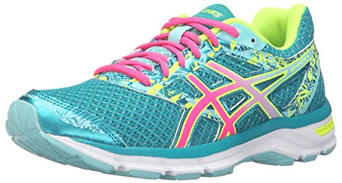 - ASICS Women's Gel-Excite 4 Running Shoe, Lapis/Hot Pink/Safety Yellow, 9.5 M US