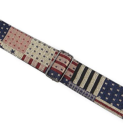 Heele Music 2.5 Heat Tranfer Printing Guitar Strap With Genuine Leather Ends For Electric Guitar Acoustic Guitar Ukulele And Bass