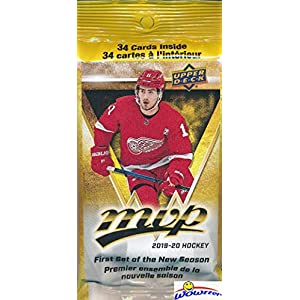 2019/20 Upper Deck MVP NHL Hockey Awesome Factory Sealed JUMBO FAT PACK with 34 Cards including One HIGH SERIES SHORT PRINT! Your Brand New 2018/19 Hockey Collection Starts Here! WOWZZER!
