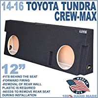 14-16 TOYOTA TUNDRA CREWMAX 12 DUAL SUBWOOFER SUB ENCLOSURE BOX GROUND-SHAKER