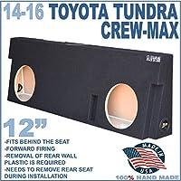 14-16 TOYOTA TUNDRA CREWMAX 12 DUAL SUBWOOFER SUB ENCLOSURE BOX GROUND-SHAKER