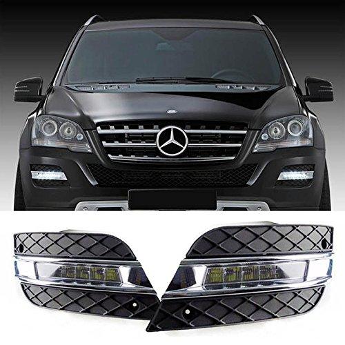 Mercedes Ml63 Amg (iJDMTOY OEM Fit 12W High Power LED Daytime Running Lights, Exact Fit For 2009-11 Mercedes W164 ML-Class ML350 ML450 ML550 ML63)