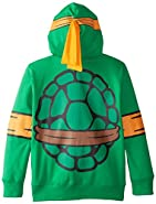 Nickelodeon Big Boys' Teenage Mutant Ninja Turtles Costume Hoodie, Shell Green, Medium