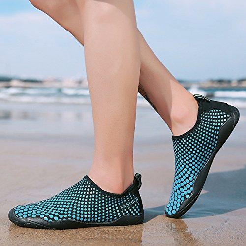 Schage 3 Durable D'eau Chaussures Baignade Rapide Sport Lgret Nautiques Piscine Sports Sable Plage Yoga Pieds Rapide By Nus Pour De Femmes Aux La AwqBdY