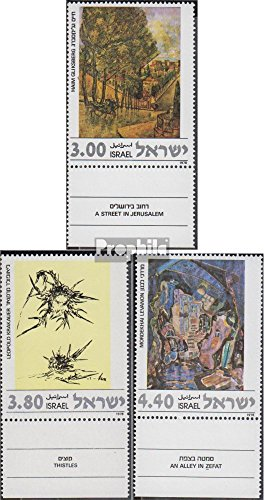 - Israel 733-735 with Tab (Complete.Issue.) 1978 Paintings (Stamps for Collectors) Painting